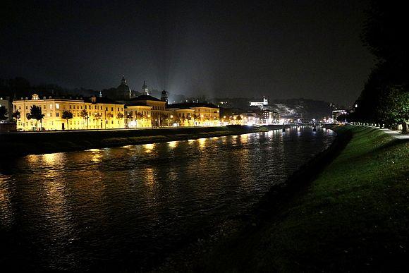 Städtische Beleuchtung in Salzburg